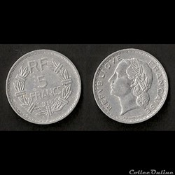 5 Francs Lavrillier 1950