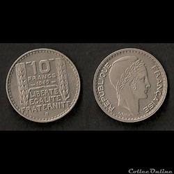 10 Francs Turin 1949 B