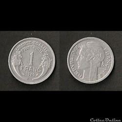 1 Franc Morlon Alu 1949