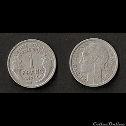 1 Franc Morlon Alu 1947