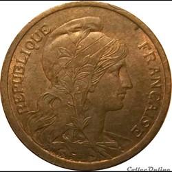 Deux Centimes Daniel Dupuis 1901