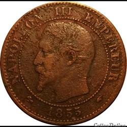 2 Centimes Napoléon III Tête Nue 1855 An...