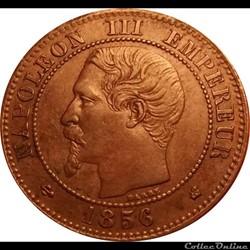 2 CENTIMES 1856 K