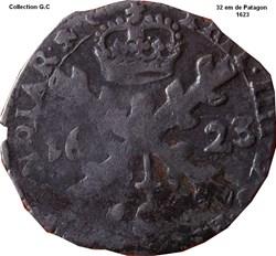 32 em de Patagon Philippe IV 1623