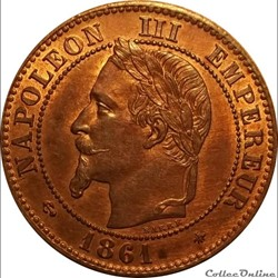 2 Centimes Napoléon III Tête Laurée Bust...