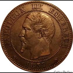 2 Centimes Napoléon III Tête Nue 1857 A