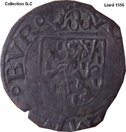 Liard Charles Quint ( ou V ) 1556