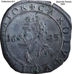Quart de Teston Philippe IV 1623