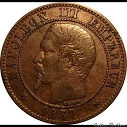 2 Centimes Napoléon III Tête Nue 1857 B