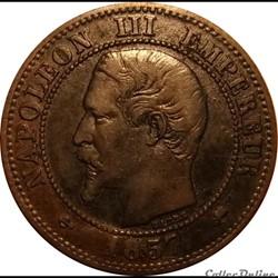 2 Centimes Napoléon III Tête Nue 1857D p...