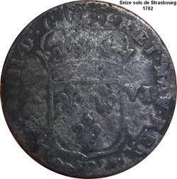 XVI deniers 1702 Strasbourg