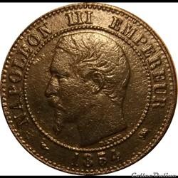 2 Centimes Napoléon III Tête Nue 1854 D
