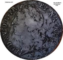 Ecu du Béarn au bandeau 1765