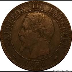 2 Centimes Napoléon III Tête Nue 1856 A
