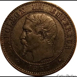2 Centimes Napoléon III Tête Nue 1856 BB