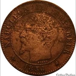 2 Centimes Napoléon III Tête Nue 1856 K