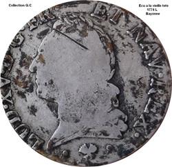 Ecu a la vieille tète 1774 L Bayonne