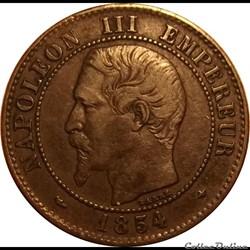 2 Centimes Napoléon III Tête Nue 1854 BB