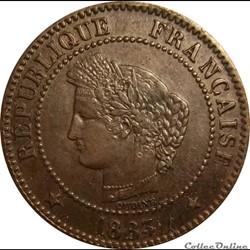 Deux Centimes Cérès 1883 A