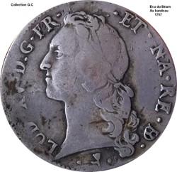 Écu du Béarn au bandeau 1767
