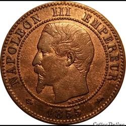 2 Centimes Napoléon III Tête Nue 1855 D ...