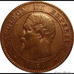 2 Centimes Napoléon III Tête Nue 1854 B