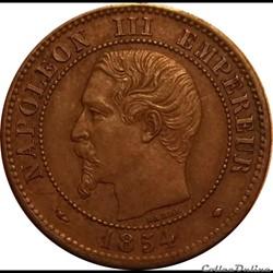 2 Centimes Napoléon III Tête Nue 1854 MA
