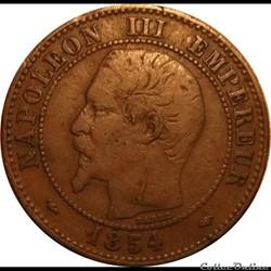2 Centimes Napoléon III Tête Nue 1854 A