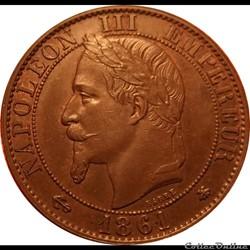 5 Centimes 1861 A