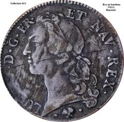 Écu au bandeau 1763 L