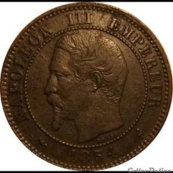 2 Centimes Napoléon III Tête Nue 1854 K