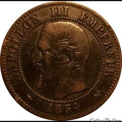 2 Centimes Napoléon III Tête Nue 1854 W