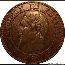 2 Centimes Napoléon III Tête Nue 1856 W