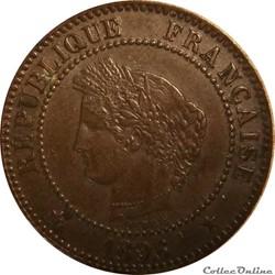 Deux Centimes Cérès 1896 A