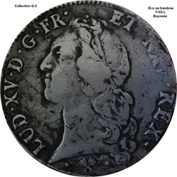 Écu au bandeau 1769 L Bayonne