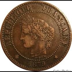 Deux Centimes Cérès 1879 Grand A