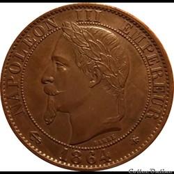 5 Centimes 1864 A