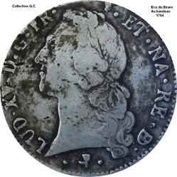 Écu du Béarn au bandeau 1764