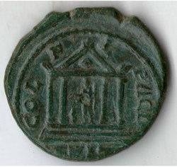 Gordian III AE temple