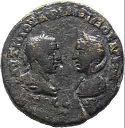 Philippus I AE25 Tyche