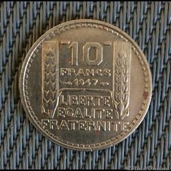 10 francs 1947 Turin petite tête