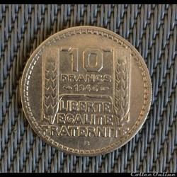 10 francs 1946 B Turin rameaux courts