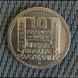 10 francs 1947 B Turin grosse tête