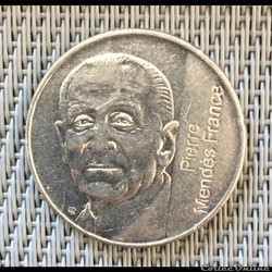 5 francs 1992 Pierre Mendes France