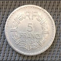 5 francs 1945 Lavrillier (fine)