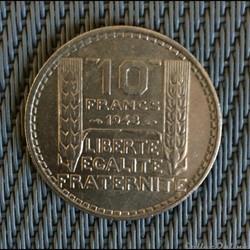 10 francs 1948 Turin petite tête