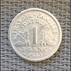 1 franc 1943 Bazor légère