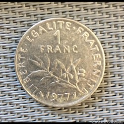 1 franc 1977 semeuse