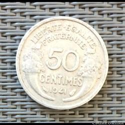 50 centimes 1941 lourde