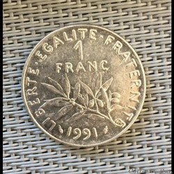 1 franc 1991 semeuse